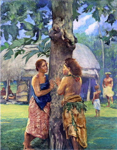 John La Farge Portrait of Faase, the Taupo of Fagaloa Bay, Samoa - Hand Painted Oil Painting