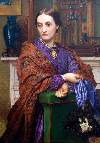 William Holman Hunt Portrait of Fanny Holman Hunt - Hand Painted Oil Painting