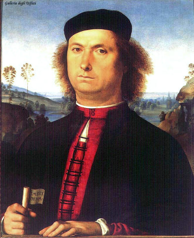 Pietro Perugino Portrait of Francesco delle Opere - Hand Painted Oil Painting