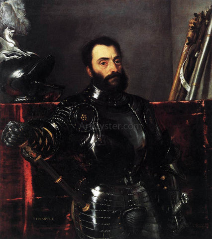 Titian Portrait of Francesco Maria della Rovere, Duke of Urbino - Hand Painted Oil Painting