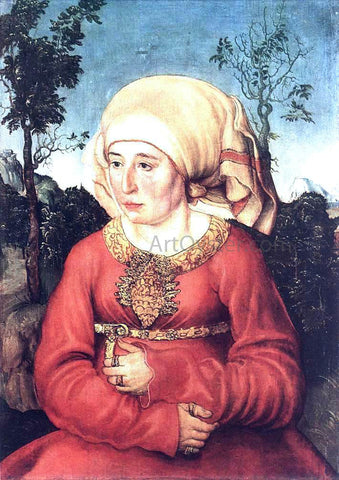 The Elder Lucas Cranach Portrait of Frau Reuss - Hand Painted Oil Painting
