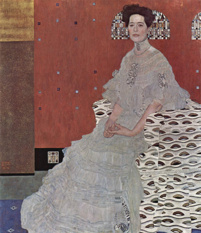 Gustav Klimt Portrait of Fritsa Reidler - Hand Painted Oil Painting