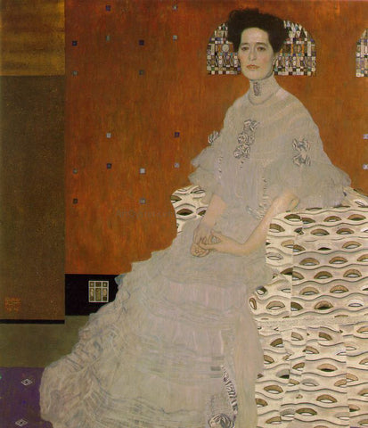 Gustav Klimt A Portrait of Fritsa Reidler - Hand Painted Oil Painting