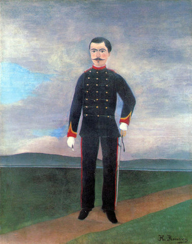 Henri Rousseau Portrait of Frumence Biche in Uniform - Hand Painted Oil Painting