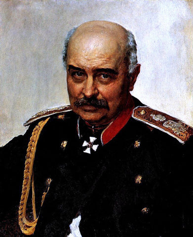 Ilia Efimovich Repin Portrait of general and statesman Mikhail Ivanovich Dragomirov - Hand Painted Oil Painting