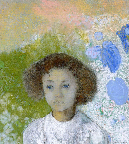 Odilon Redon Portrait of Genevieve de Gonet as a Child - Hand Painted Oil Painting