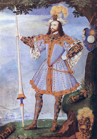 Nicholas Hilliard Portrait of George Clifford, Earl of Cumberland - Hand Painted Oil Painting