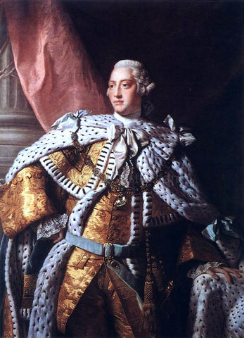 Allan Ramsay Portrait of George III - Hand Painted Oil Painting