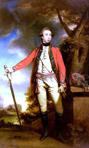 Sir Joshua Reynolds Portrait Of George Townshend, Lord Ferrers - Hand Painted Oil Painting