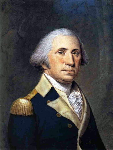 Ellen Wallace Sharples Portrait of George Washington - Hand Painted Oil Painting