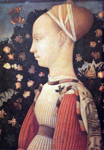Antonio Pisanello Portrait of Ginervra D'Este - Hand Painted Oil Painting