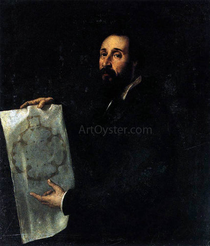 Titian Portrait of Giulio Romano - Hand Painted Oil Painting
