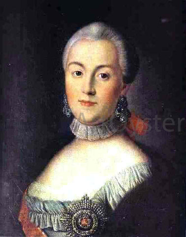 Alexey Petrovich Antropov Portrait of Grand Duchess Catherine Alekseevna, Future Empress Catherine II the Great - Hand Painted Oil Painting