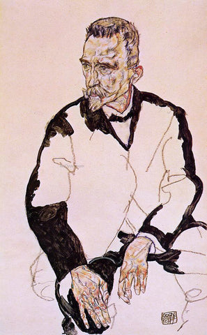 Egon Schiele Portrait of Heinrich Benesch - Hand Painted Oil Painting