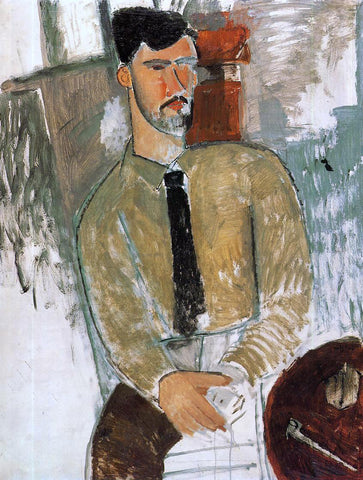 Amedeo Modigliani Portrait of Henri Laurens - Hand Painted Oil Painting