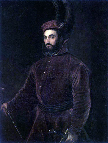 Titian Portrait of Ippolito dei Medici - Hand Painted Oil Painting