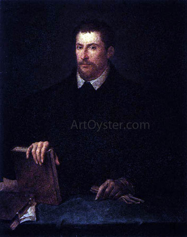 Titian Portrait of Ippolito Riminaldi - Hand Painted Oil Painting