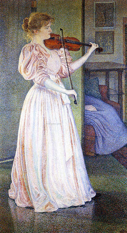 Theo Van Rysselberghe Portrait of Irma Sethe - Hand Painted Oil Painting