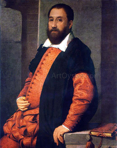 Giovanni Battista Moroni Portrait of Jacopo Foscarini - Hand Painted Oil Painting