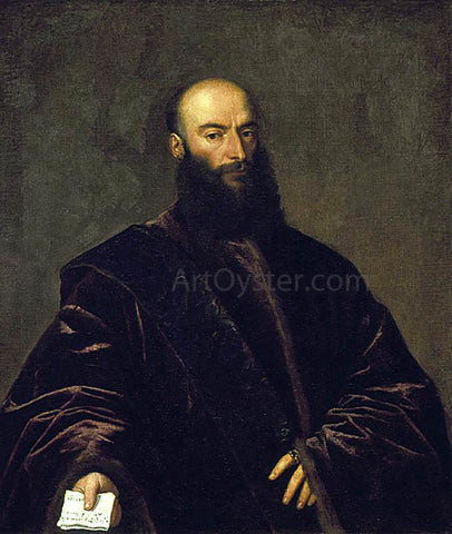 Titian Portrait of Jacopo (Giacomo) Dolfin - Hand Painted Oil Painting
