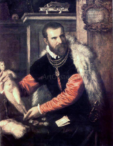 Titian Portrait of Jacopo Strada - Hand Painted Oil Painting