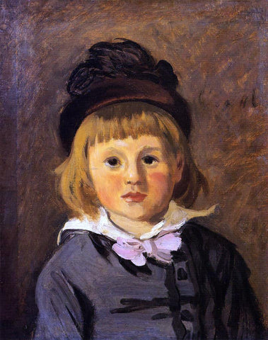 Claude Oscar Monet Portrait of Jean Monet Wearing a Hat with a Pompom - Hand Painted Oil Painting