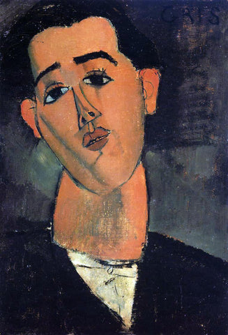 Amedeo Modigliani Portrait of Juan Gris - Hand Painted Oil Painting