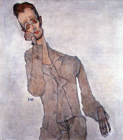 Egon Schiele Portrait of Karl Zakovsek - Hand Painted Oil Painting