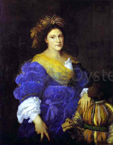 Titian Portrait of Laura de Dianti - Hand Painted Oil Painting