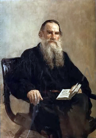 Ilya Repin Portrait of Leo Tolstoy - Hand Painted Oil Painting