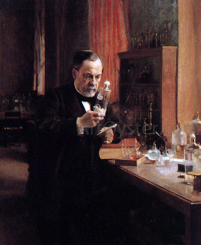 Albert Edelfelt Portrait of Louis Pasteur - Hand Painted Oil Painting