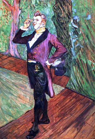 Henri De Toulouse-Lautrec Portrait of M. Samary - Hand Painted Oil Painting