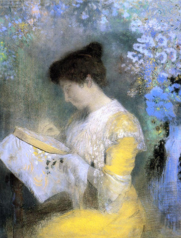 Odilon Redon Portrait of Madame Arthur Fontaine - Hand Painted Oil Painting