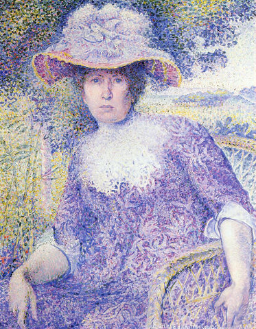 Henri Edmond Cross Portrait of Madame Cross - Hand Painted Oil Painting