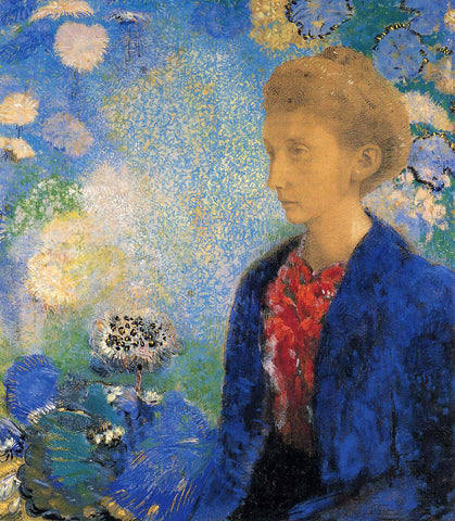 Odilon Redon Portrait of Madame de Demecy - Hand Painted Oil Painting