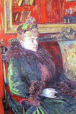 Henri De Toulouse-Lautrec Portrait of Madame de Gortzikolff - Hand Painted Oil Painting