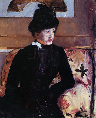 Mary Cassatt Portrait of Madame J (also known as Young Woman in Black) - Hand Painted Oil Painting