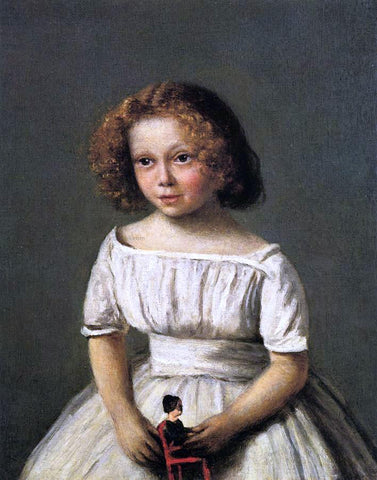 Jean-Baptiste-Camille Corot Portrait of Madame Langeron, Four Years Old - Hand Painted Oil Painting