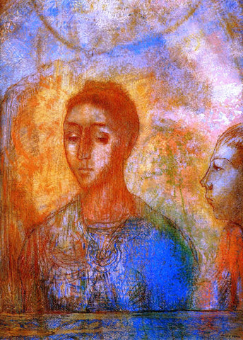 Odilon Redon Portrait of Madame Redon with Ari - Hand Painted Oil Painting