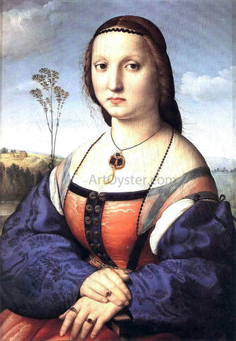 Raphael Portrait of Maddalena Doni - Hand Painted Oil Painting