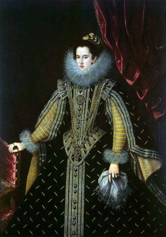 Bartolome Gonzalez Y Serrano Portrait of Margarita Aldobrandini, Duchess of Parma - Hand Painted Oil Painting