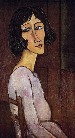 Amedeo Modigliani Portrait of Marguerite - Hand Painted Oil Painting