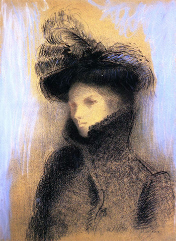 Odilon Redon Portrait of Marie Botkine - Hand Painted Oil Painting