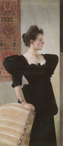 Gustav Klimt Portrait of Marie Breunig - Hand Painted Oil Painting
