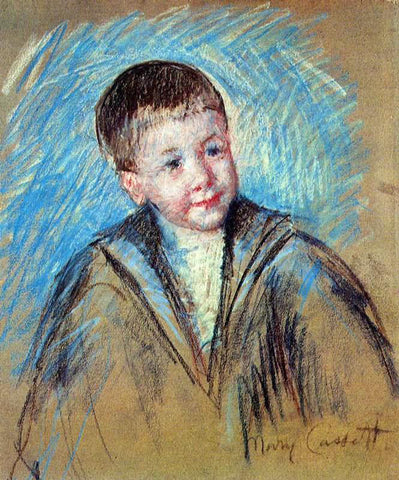 Mary Cassatt Portrait of Master St. Pierre (study) - Hand Painted Oil Painting