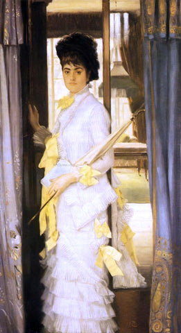 James Tissot Portrait of Miss Lloye - Hand Painted Oil Painting