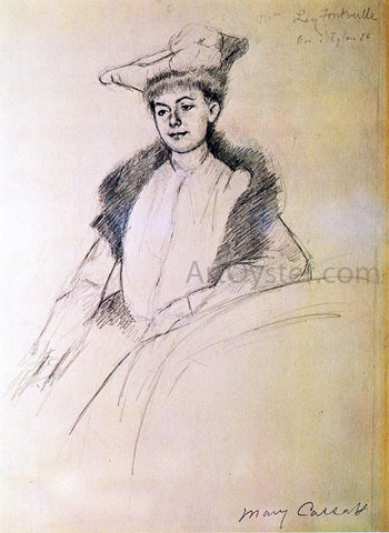 Mary Cassatt Portrait of Mme. Fontveille - Hand Painted Oil Painting