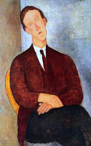 Amedeo Modigliani Portrait of Morgan Russell - Hand Painted Oil Painting