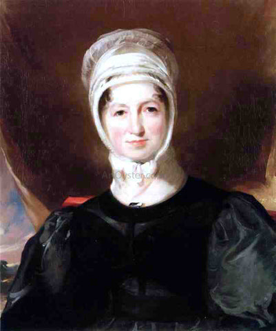 Thomas Sully Portrait of Mrs. Ebenezer Stott - Hand Painted Oil Painting