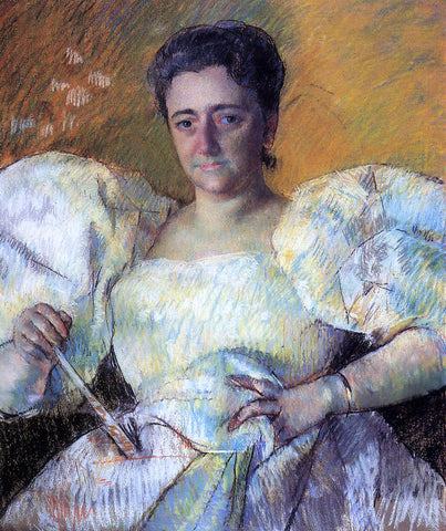 Mary Cassatt Portrait of Mrs. H. O. Hevemeyer - Hand Painted Oil Painting